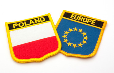polish and europe flags