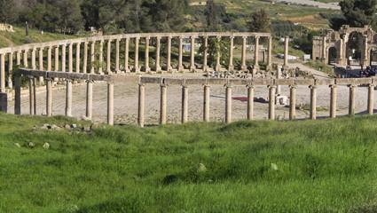 Ruins of the Greco-Roman city of Jerash, Jordan.