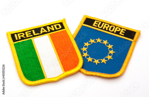 ireland and europe flags