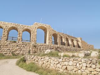 Greco-Roman city of Jerash, Jordan. Hippodrome view.
