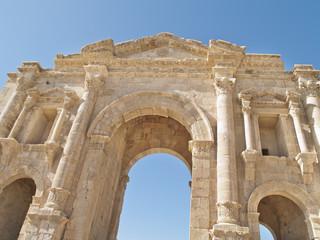 Hadrian's Gate in the Greco-Roman city of Jerash, Jordan.