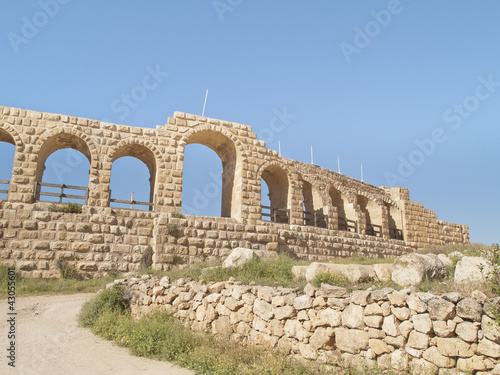 Greco-Roman city of Jerash, Jordan. Hippodrome view.