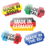 Price Tag - Made In ES, IT, DE, FR, EU