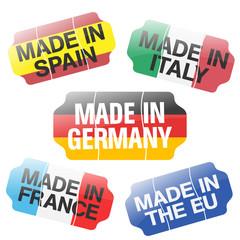 Price Tag - Made In ES, IT, DE, FR, EU