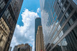 Toronto downtown  skyscrapers on Bay Street
