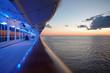 Leinwandbild Motiv Cruise Ship Deck at Sunset