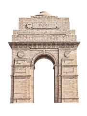 India Gate isolated on white