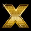 Golden font type letter X