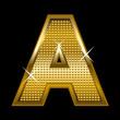 Golden font type letter A