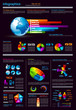 Infographics page with a lot of design elements