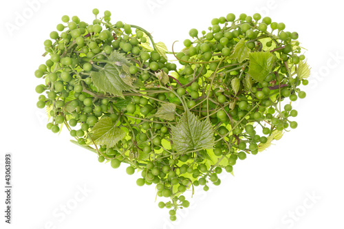 green grapes heart