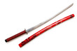 Japanese sword takana isolated on white