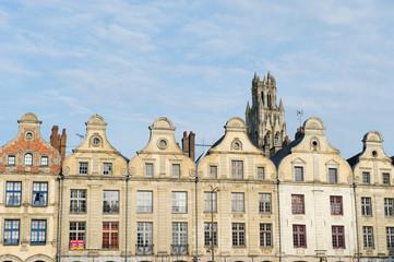 Facades buildings in French Arras