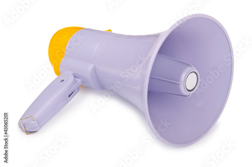Loudspeaker isolated on the white background