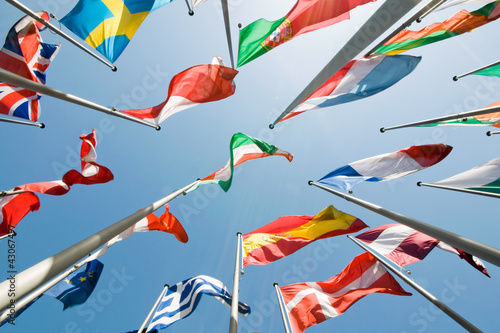 Leinwandbild Motiv Flaggen