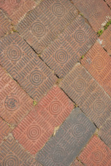 Spiral pattern brick background