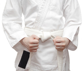 Kimono and a white belt