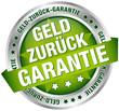 """Button Banner """"Geld-zurück-Garantie"""" grün/silber"""