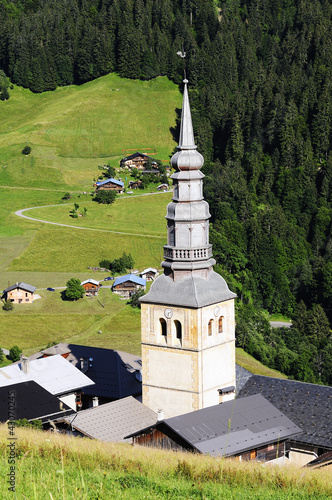 Hautekuce village in alps