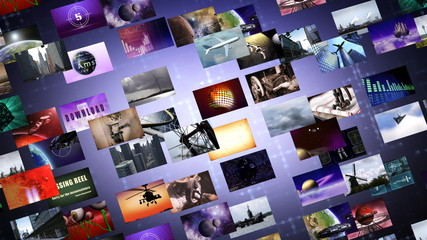 Animated video wall