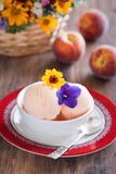 Peach yogurt ice cream