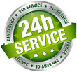 "Button Banner ""24h Service"" green/silver"