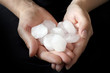Hail in hands weather anomaly