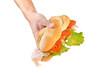 panino con prosciutto cotto, insalata e pomodoro