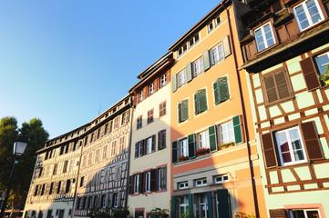 "Street in tourist area ""Petite France"" in Strasbourg"