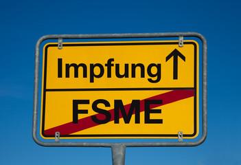 Wechselschild FSME - IMPFUNG