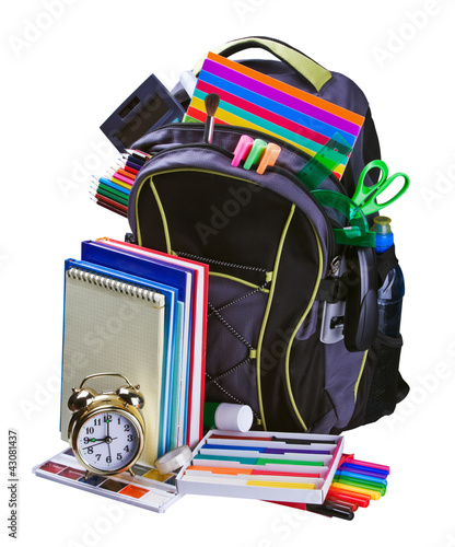 backpack for school stationery learning