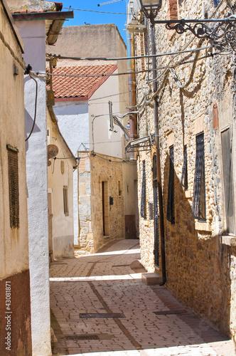 Alleyway. Pietramontecorvino. Puglia. Italy. - 43081871