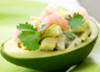 Avocado and Shrimps Salad. Appetizer