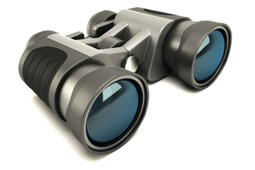 illustration of 3d image of binocular against white background