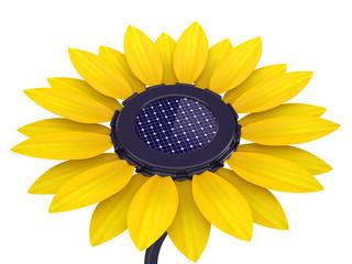 3d solar cell sunflower