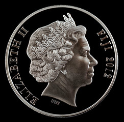 Investment coin silver 2012 Year  a black background