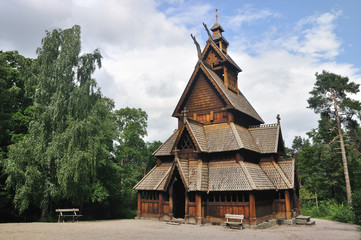 Gol stave church in Folks museum Oslo