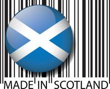 Wykonane w kodzie kreskowym Szkocji. Ilustracji wektorowych