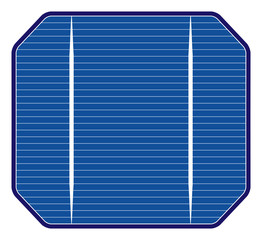 Solar cell, illustration of photovoltaic cell.