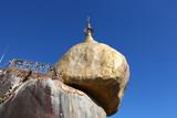 Golden rock pagoda a Buddhist pilgrimage site in Myanmar poster