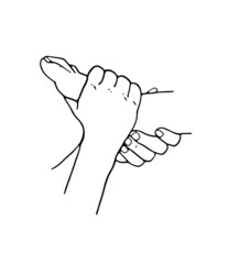 Simple Reflexology outline drawing