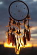 Dreamcatcher sunset background