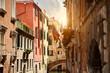 Gebäude im Venedig bei Sonnenuntergang