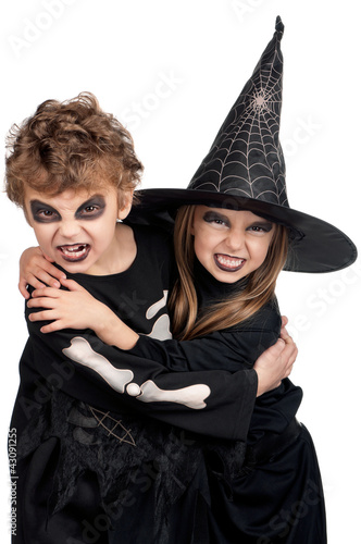 Child in halloween costume