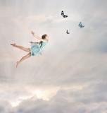 Fototapeta chmura - marzenie - Dziecko