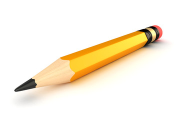 3d render of a pencil