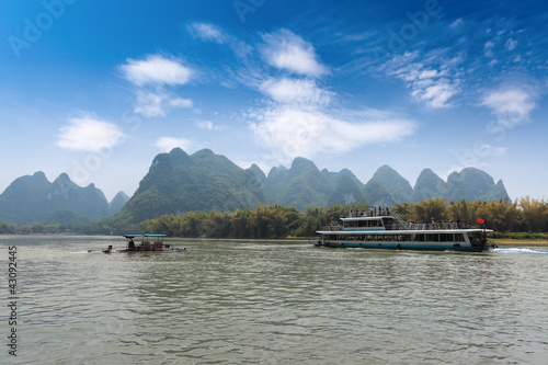 boat and raft in guilin