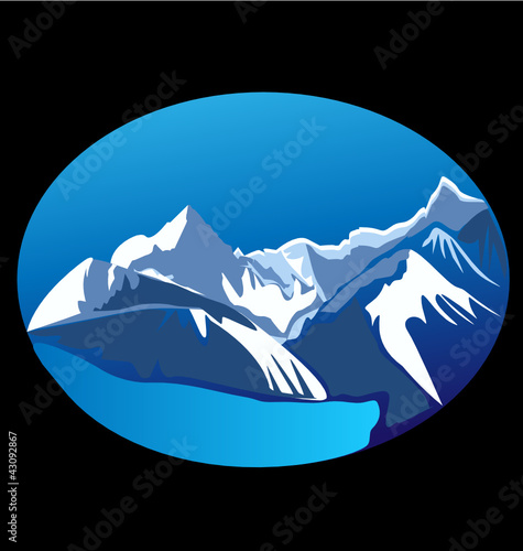 Mountains and peaks vector stock