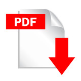 Pdf download button, vector illustration