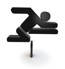 leichtathletik athletics hürde barrier symbol 3d